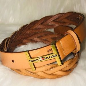Women's Braided Leather Belt Size S